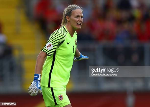 Ingrid Hjelmseth of Norway in action during the UEFA Women's Euro 2017 Group A match between Norway and Belgium at Rat Verlegh Stadion on July 20...