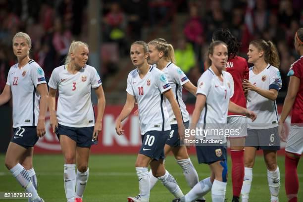 Ingrid Marie Spord Maria Thorisdottir Caroline Graham Hansen Ada Hegerberg Ingrid Schjelderup Maren Mjelde of Norway during the UEFA Womens«s Euro...