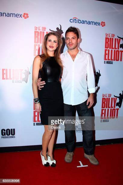Ingrid Martz poses for the camera during the opening night of Billy Elliot Music Show on February 15 2017 in Mexico City Mexico