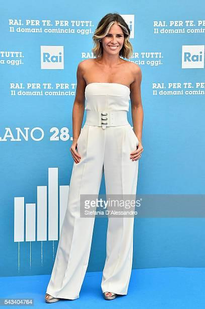Ingrid Muccitelli attends Rai Show Schedule Presentation In Milan on June 28 2016 in Milan Italy