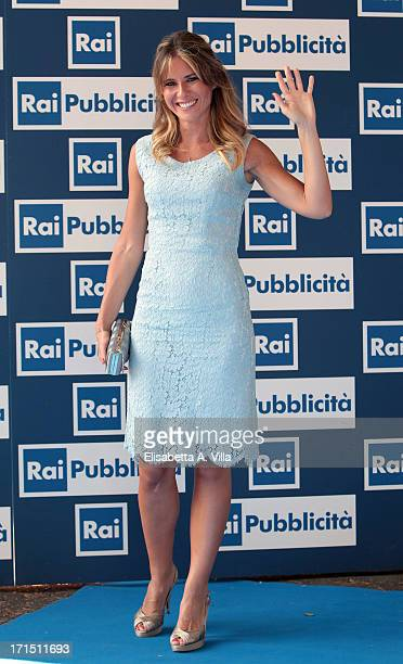Ingrid Muccitelli attends RAI Television 2013 / 2014 Programming Presentation at RAI Dear Studios on June 25 2013 in Rome Italy