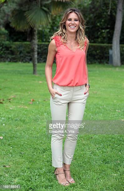 Ingrid Muccitelli attends 'Unomattina Ciao Come Stai' photocall at Rai Tor di Quinto on May 21 2013 in Rome Italy