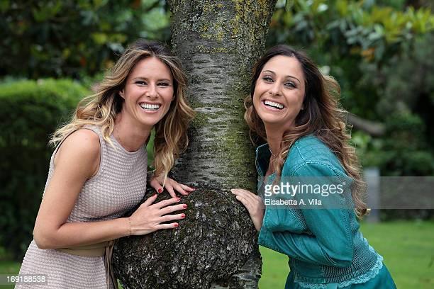 Ingrid Muccitelli left and Veronica Gatto attend 'Unomattina Ciao Come Stai' photocall at Rai Tor di Quinto on May 21 2013 in Rome Italy