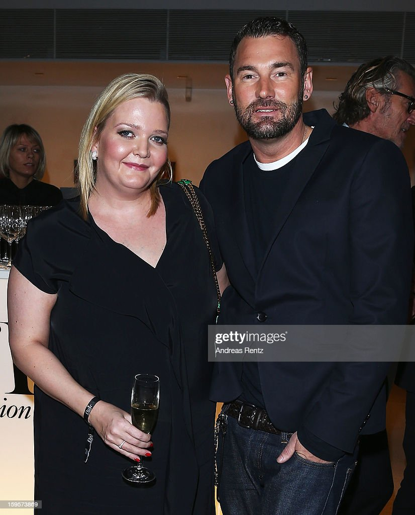 Ingrid Rose and Michael Michalsky attend Flair Magazine Party at Pariser Platz 4 on January 15, 2013 in Berlin, Germany.