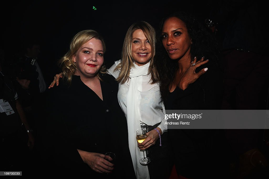Ingrid Rose, Ursula Karven and Barbara Becker attend the Michalsky Style Nite after party during the Mercedes-Benz Fashion Week at Tempodrom on January 18, 2013 in Berlin, Germany.