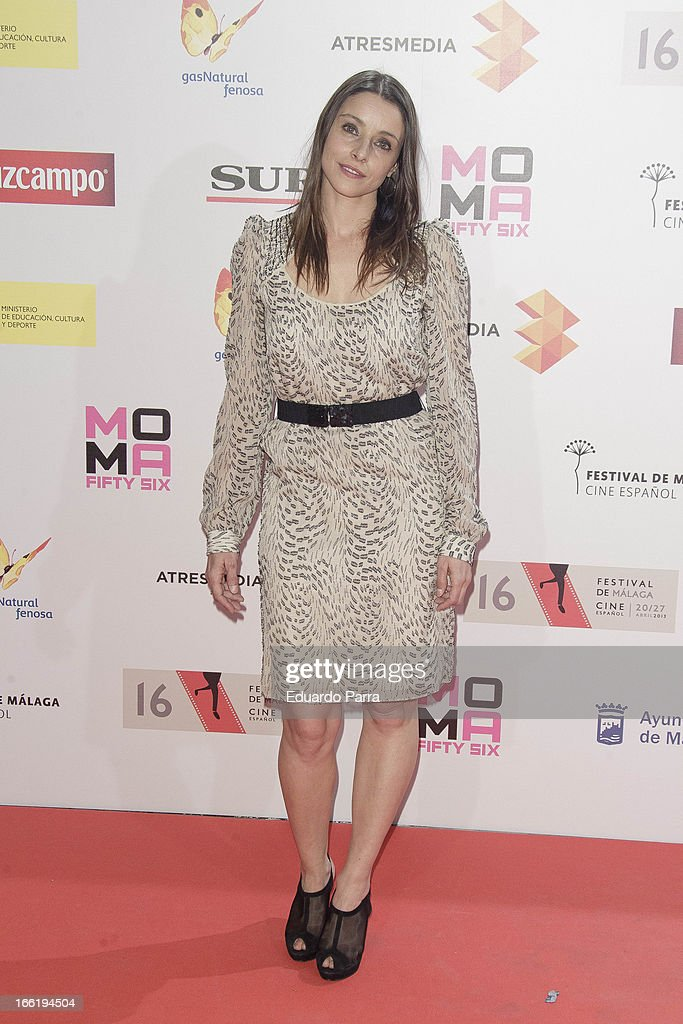Ingrid Rubio attends Malaga Film Festival party photocall at MOMA 56 disco on April 9, 2013 in Madrid, Spain.