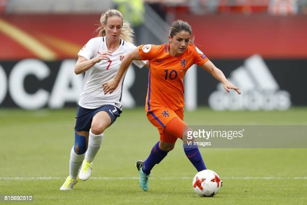 Ingrid Schjelderup of Norway women Danielle van de Donk of Holland Women during the UEFA WEURO 2017 Group A group stage match between The Netherlands...