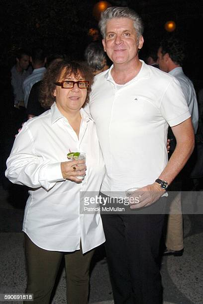 Ingrid Sischy and John Lyons attend INTERVIEW MAGAZINE afterparty for the NY Premiere of BROKEN FLOWERS a Film by Jim Jarmusch at The Cabanas at the...