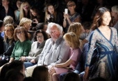 Ingrid Sischy Fran Lebowitz Vanity Fair Editor in Chief Graydon Carter and Anna Scott attend the Diane Von Furstenberg fashion show during...