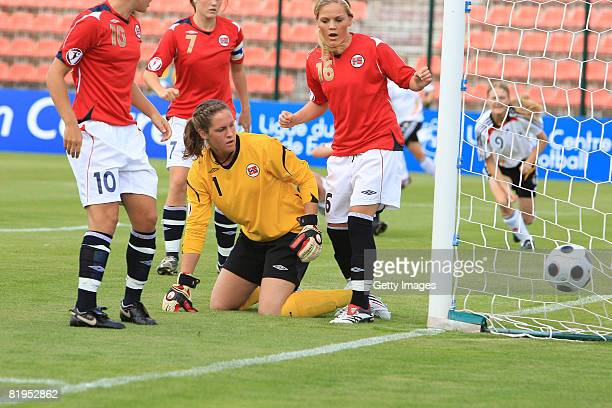 Ingrid Thorbjornsen goalkeeper of Norway looks dejected after the goal of Stefanie Mirlach of Germany during the Women's U19 European Championship...
