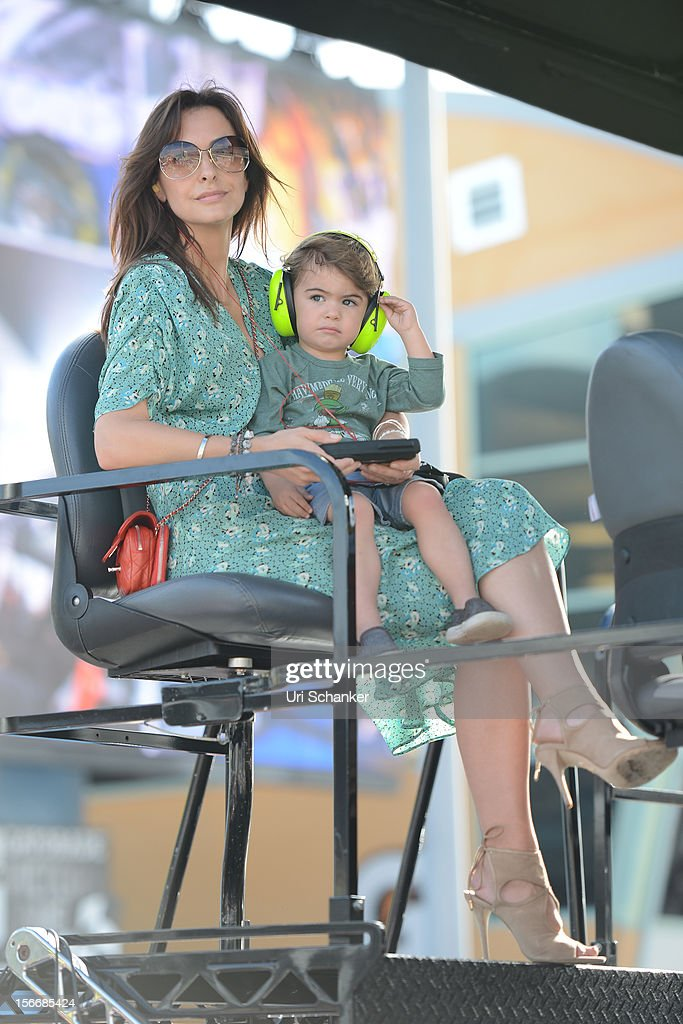 <a gi-track='captionPersonalityLinkClicked' href=/galleries/search?phrase=Ingrid+Vandebosch&family=editorial&specificpeople=725076 ng-click='$event.stopPropagation()'>Ingrid Vandebosch</a> and her son Leo Gordon are sighted at the NASCAR Sprint Cup Series Ford Ecoboost 400 at Homestead-Miami Speedway on November 18, 2012 in Homestead, Florida.