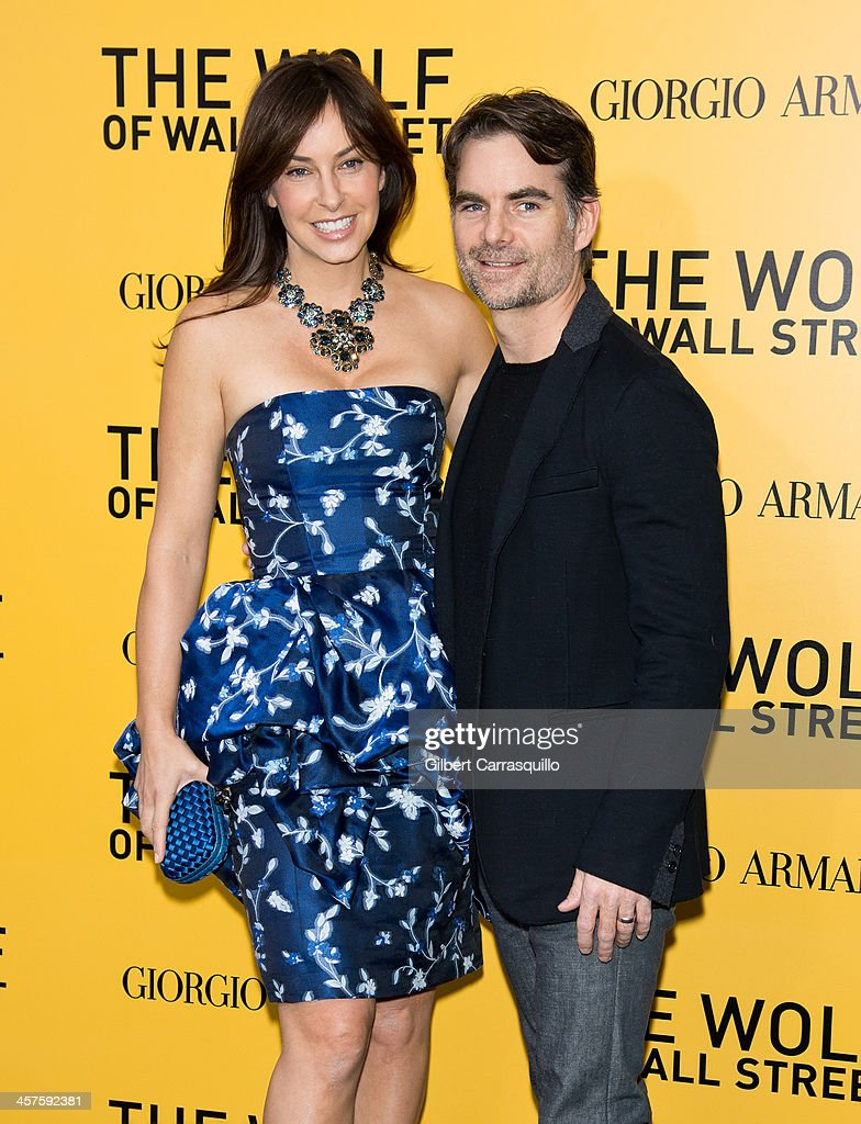 Ingrid Vandebosch and Jeff Gordon attend the 'The Wolf Of Wall Street' premiere at Ziegfeld Theater on December 17, 2013 in New York City.