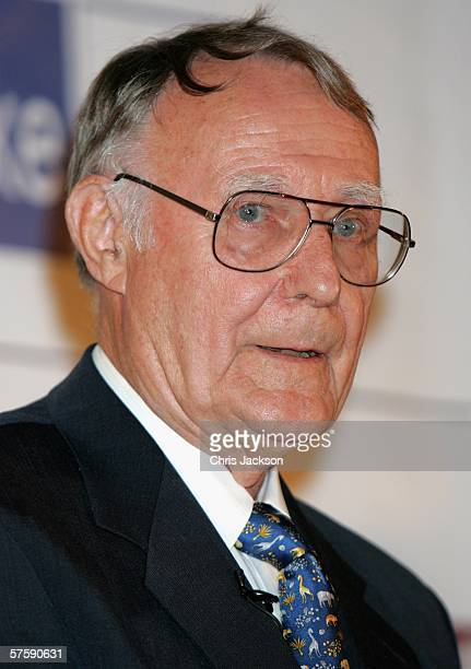 Ingvar Kamprad founder of IKEA is seen after being presented the Lifetime Achievment Award by Princess Victoria of Sweden at the Swedish Chamber of...