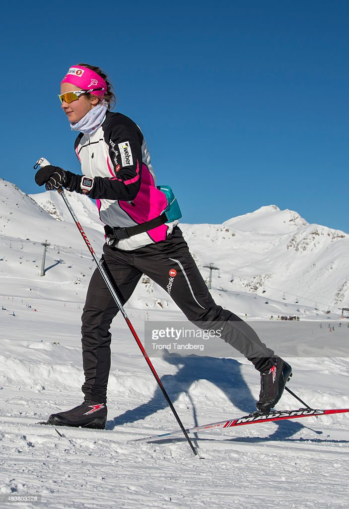 <a gi-track='captionPersonalityLinkClicked' href=/galleries/search?phrase=Ingvild+Flugstad+Oestberg&family=editorial&specificpeople=7427144 ng-click='$event.stopPropagation()'>Ingvild Flugstad Oestberg</a> of Norway during training session on the glacier in Maso Corto Val Senales, on Oktober 21, 2015 in Val Senales, Italy.