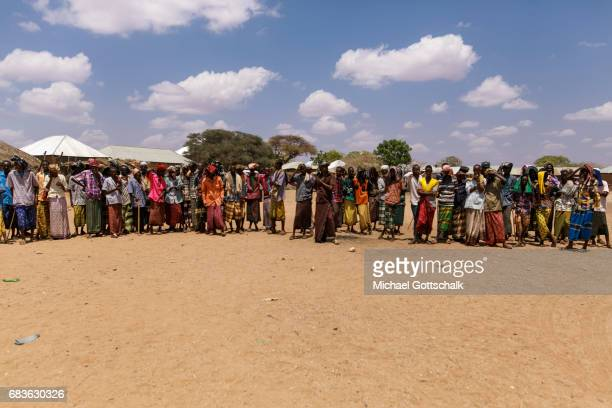 Inhabitants of a village in the Somali region in Ethiopia where Pastorale settled because of the persistent drought on April 03 2017 in Waaf Dhuung...
