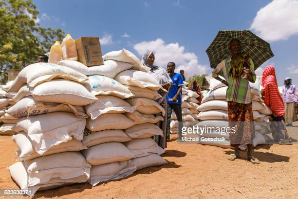 Inhabitants of a village in the Somali region in Ethiopia where Pastorale settled because of the persistent drought They received food donations from...