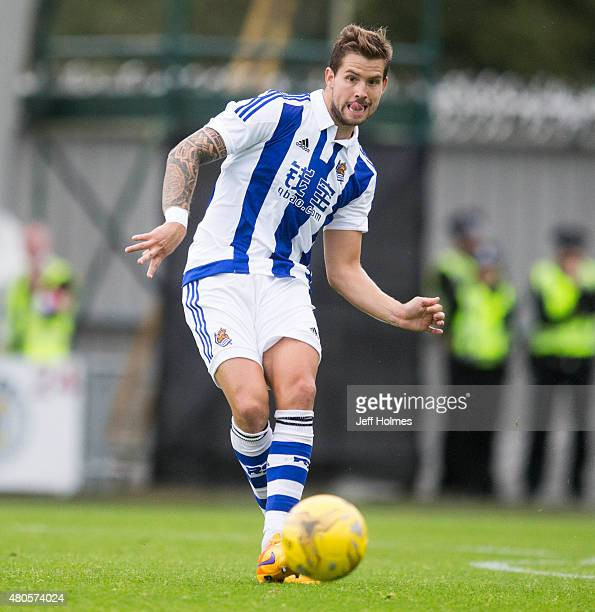 Inigo Martinez of Real Sociedad at the Pre Season Friendly between Celtic and Real Sociedad at St Mirren Park on July 10th 2015 in Paisley Scotland