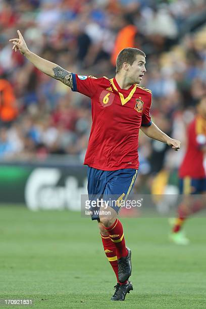 Inigo Martinez of Spain during the UEFA European U21 Championships Final match between Spain and Italy at Teddy Stadium on June 18 2013 in Jerusalem...