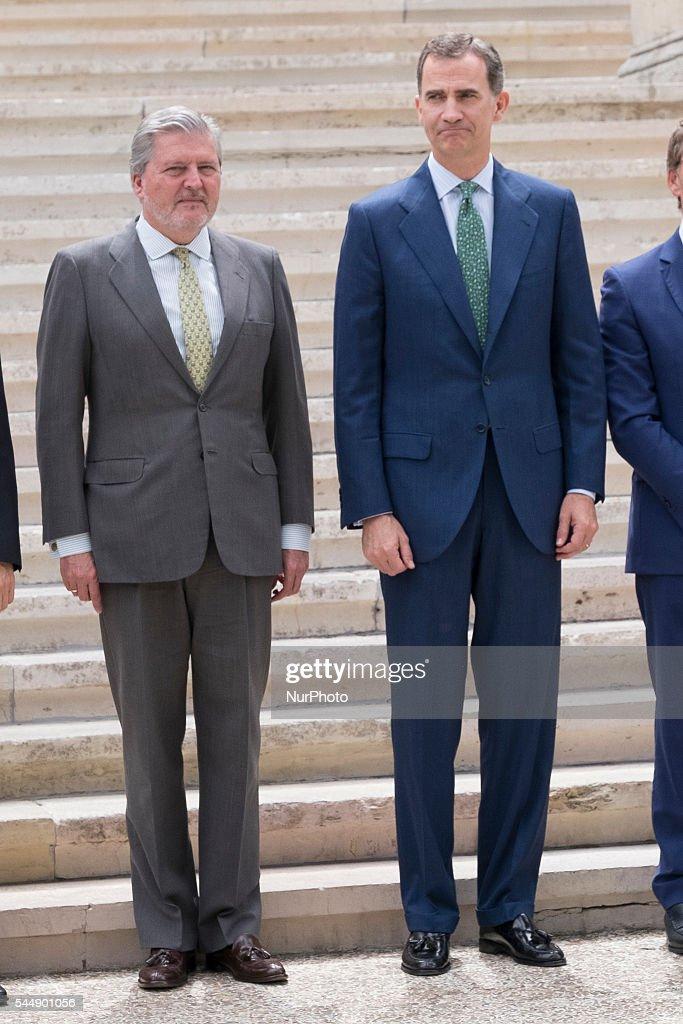 """King Felipe VI Of Spain Attends """"CJC 2016 El Centenario De Un Nobel"""" Exhibition"""
