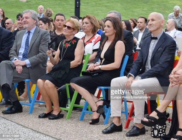 Inigo Mendez de Vigo David Delfin's mother Maria Gonzalez Corbacho and Modesto Lomba attend the National Fashion Award to David Delfin The designer...
