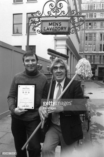 Initial 'Good Loo Guide' compiler Jonathan Routh a former 'Candid Camera' presenter with toilet attendant John Lea at the underthepavement public...