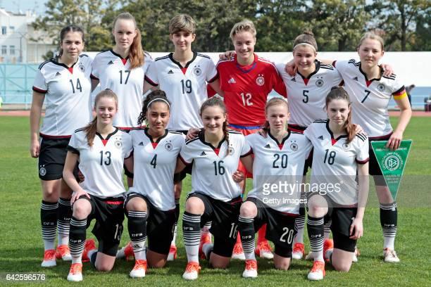 Initial Team of Germany U16 Girls Anika Metzner Louise Trapp Corinna Statz Jaclyn Natascha Schwarz Sophie Trepohl Pauline Wimmer Julia Gärtner...