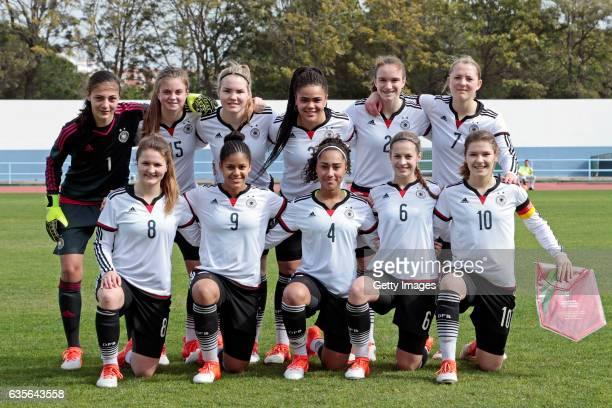 Initial team of Germany U16 Girls MariaLuisa Grohs Sina Bühler Laura Haas Michelle Klostermann Vanessa Zilligen Pauline Wimmer Noreen Günnewig...