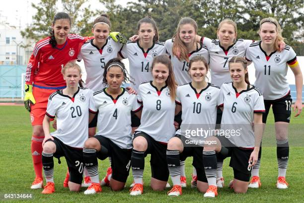 Initial team of Germany U16 Girls MariaLuisa Grohs Sophie Trepohl Anika Metzner Sina Bühler Pauline Wimmer Laura Haas Laura Donhauser Vanessa Fürst...
