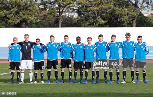 Initial team of Germany U16 Per Lockl Luca Unbehaun Patrick Finger Alexander Kopf Max Brandt MatondoMerveille Papela Jannis Rabold Antonis Aidonis...