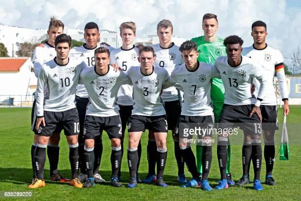 initial team of Germany U17 Lars Lukas Mai Maurice Malone Jan Boller JannFiete Arp Christian Fruchtl JeanManuel Mbom Elias Abouchabaka Alexander...