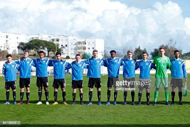 Initial team of Germany U17 NicolaGerrit Kuhn Lars Lukas Mai Maurice Malone Elias Abouchabaka Pascal Hackethal JannFiete Arp Jesaja Herrmann Jan...