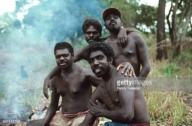 Initiates reunionSteve Djunanu Bruces Bulun Bulun Robert Madawali Ralph Baymonunbi at Nangalala 21 yrs after initiation Now kava addicts since PM...