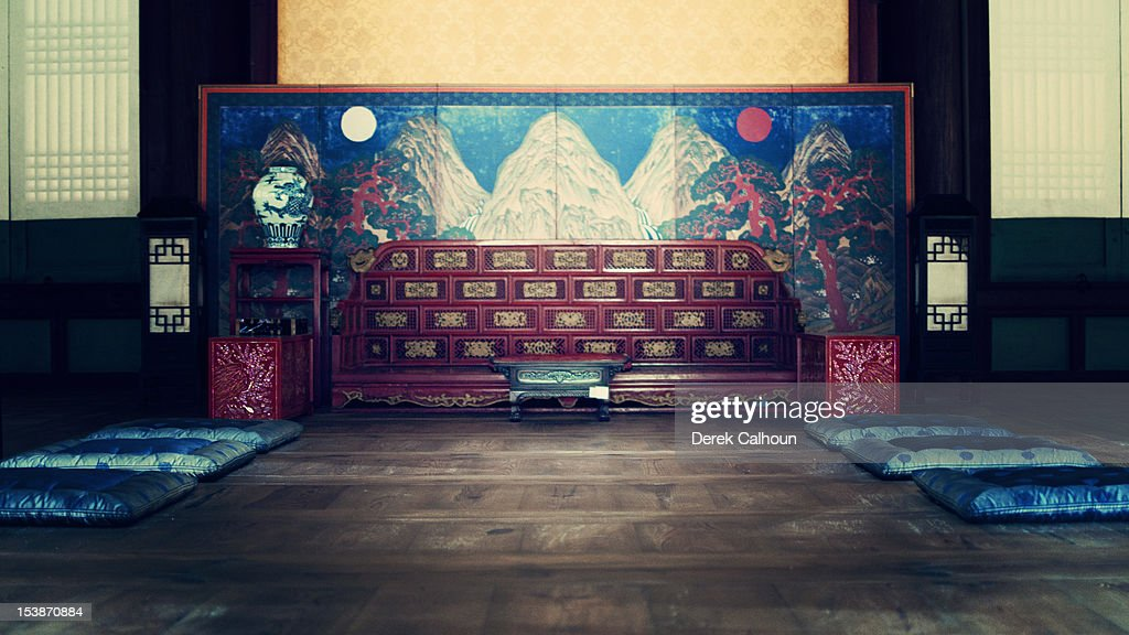 (blue) Injeongjeon Hall Throne Room