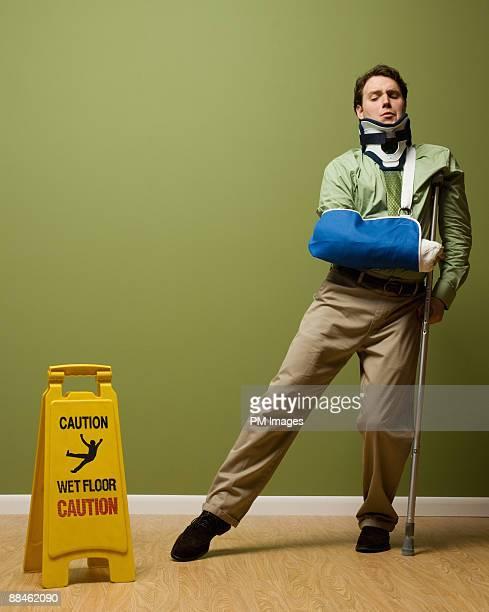 Injured Businessman