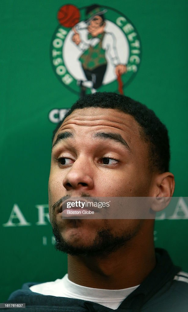 Injured Celtics rookie Jared Sullinger met the media as he discussed his rehab from back surgery before the Boston Celtics hosted the Chicago Bulls in an NBA regular season basketball game at the TD Garden.