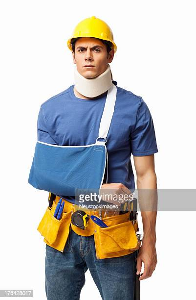Injured Construction worker - Isolated