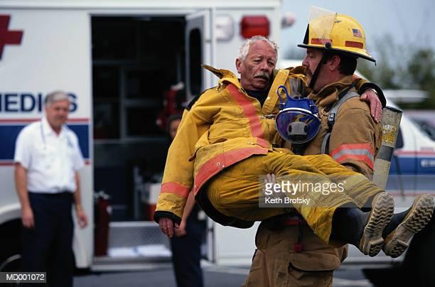 Injured Firefighter