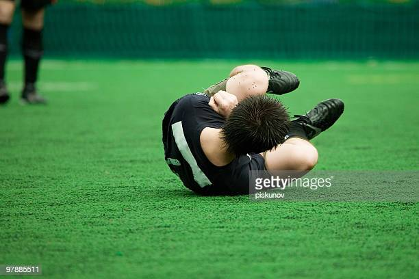 Verletzte football player