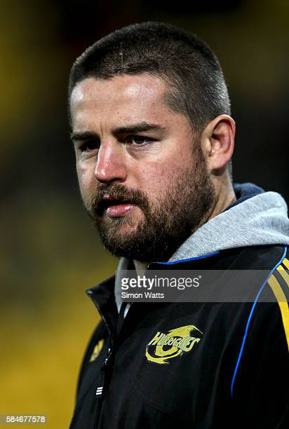 Injured Hurricanes captain Dane Coles during the Super Rugby Semi Final match between the Hurricanes and the Chiefs at Westpac Stadium on July 30...