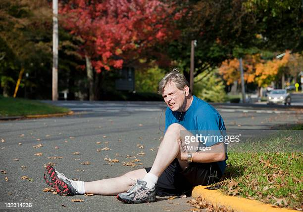 Injured male jogger