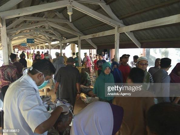 Injured people receive medical treatment in the quakedevastated area after an earthquake measuring 64 on the Richter Scale rocked Pidie Jaya Aceh...