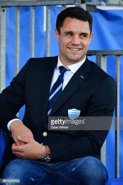 Injured Racing 92 player Dan Carter during the European Rugby Champions Cup match between Racing 92 and Leicester Tigers on October 14 2017 in...