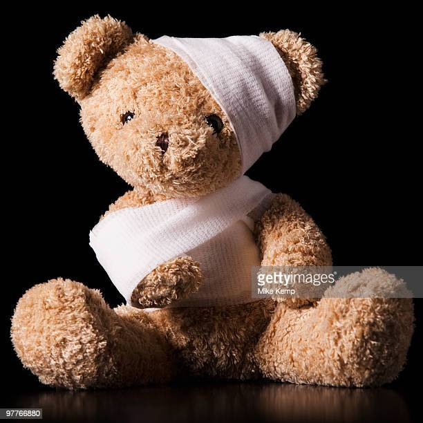 Injured Teddy Bear wrapped in bandage