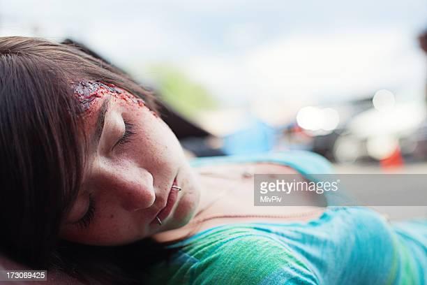 Injured teenager