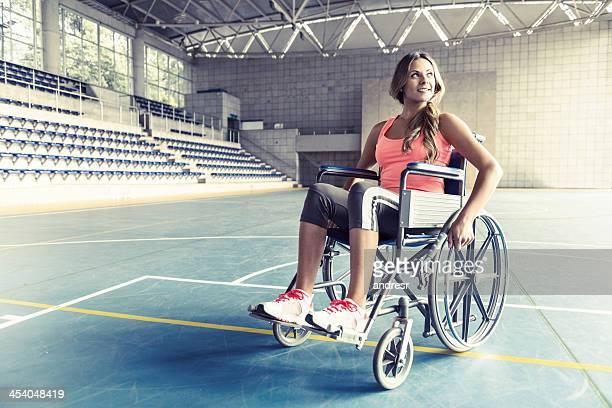 Injured woman in a wheelchair