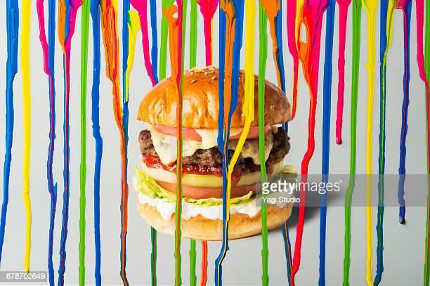 Ink dripping with Hamburger