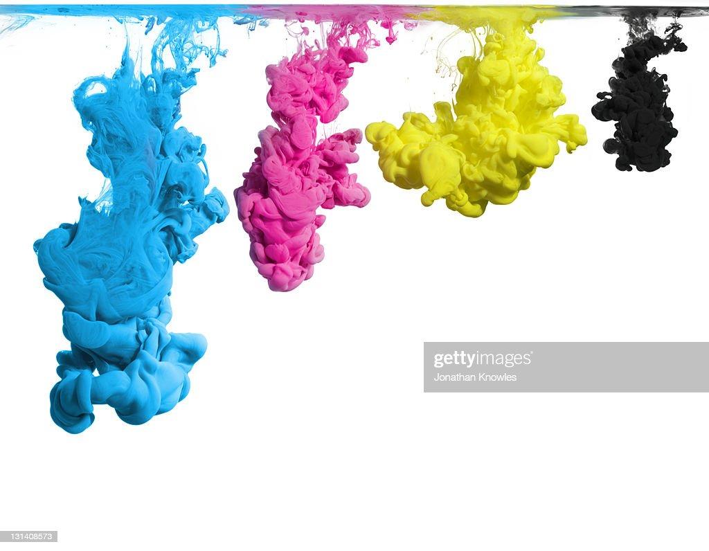 Ink in CMYK colors