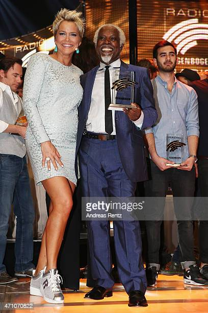 Inka Bause and Billy Ocean attend the Radio Regenbogen Award 2015 at Europapark on April 24 2015 in Rust Germany