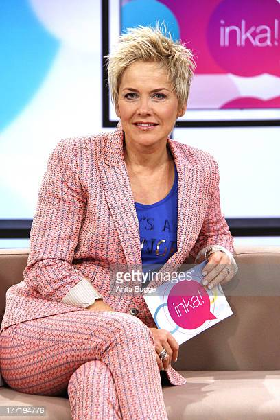 Inka Bause attends a photocall for her new talkshow 'inka' at the ZDS studios 'Fernsehwerft' on August 22 2013 in Berlin Germany