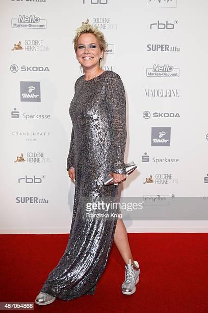 Inka Bause attends Madeleine At Goldene Henne 2015 on September 05 2015 in Berlin Germany